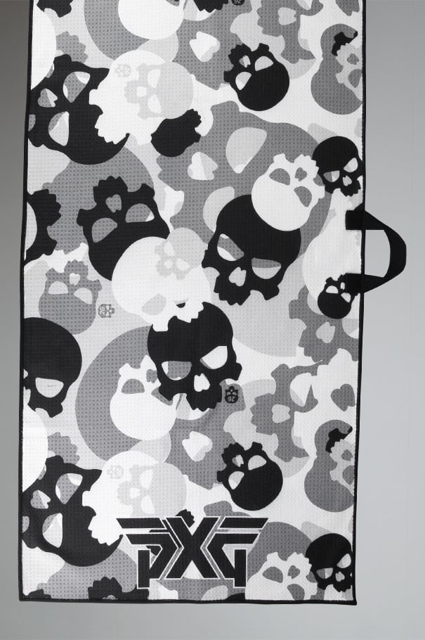 Darkness Skull Camo Players Towel Rollover Image