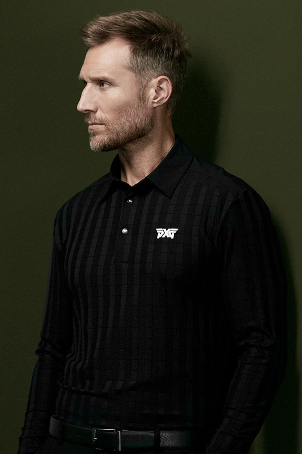 Long Sleeve Shoulder Detail Polo Rollover Image