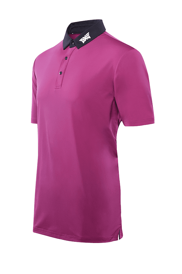 Royal Plum Black Collar Polo Listing Image