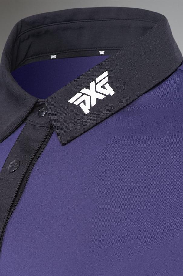 Cobalt Black Collar Polo Rollover Image