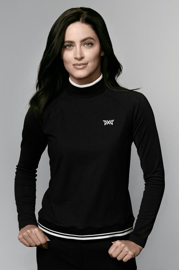 Long Sleeve Mockneck Shirt Rollover Image