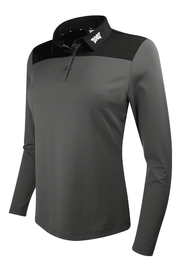 Long Sleeve Color Block Polo Listing Image