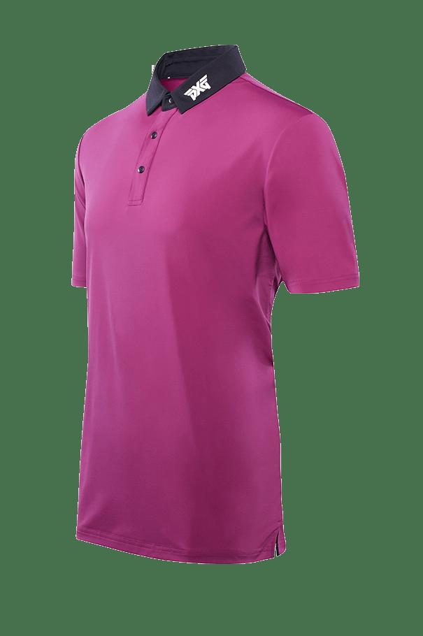 Buy Royal Plum Black Collar Polo